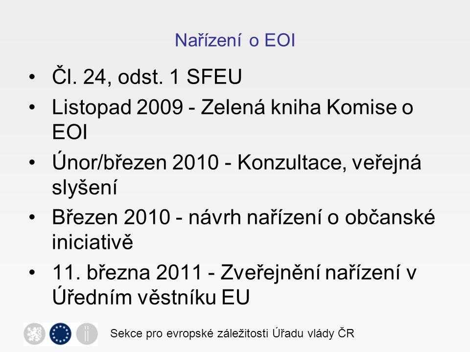 Postup EOI Sekce pro evropské záležitosti Úřadu vlády ČR