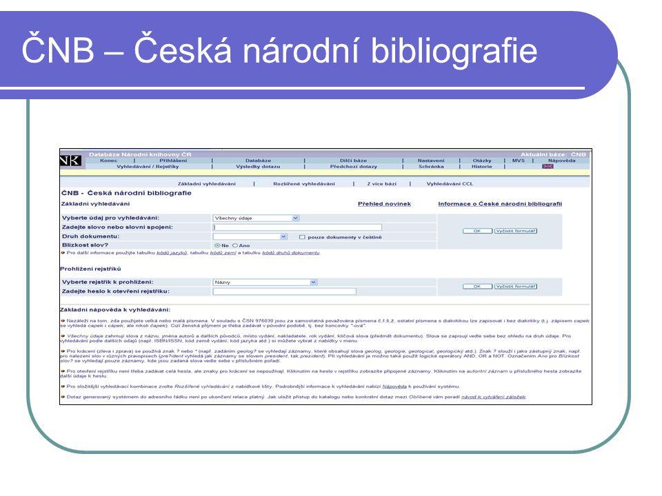 ČNB – Česká národní bibliografie