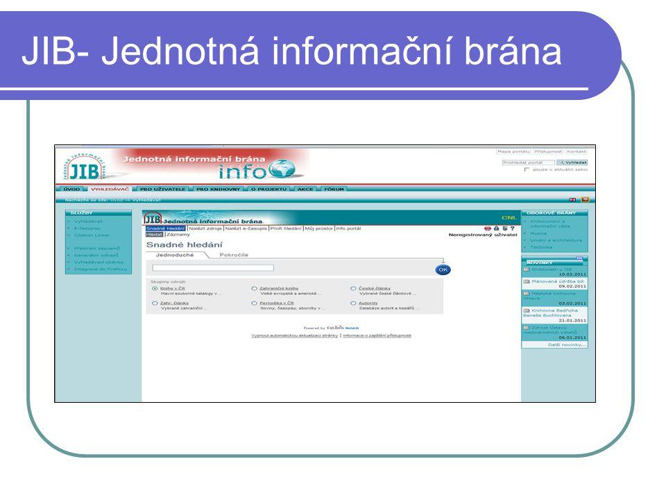 JIB- Jednotná informační brána