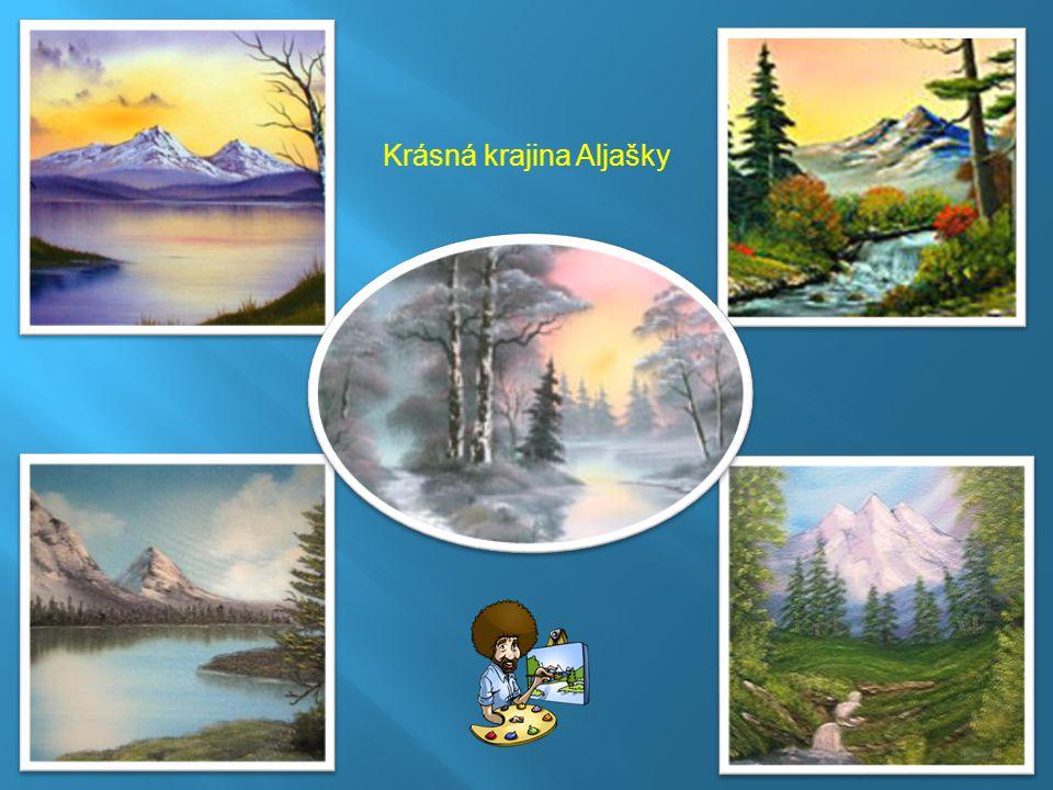 Krásná krajina Aljašky
