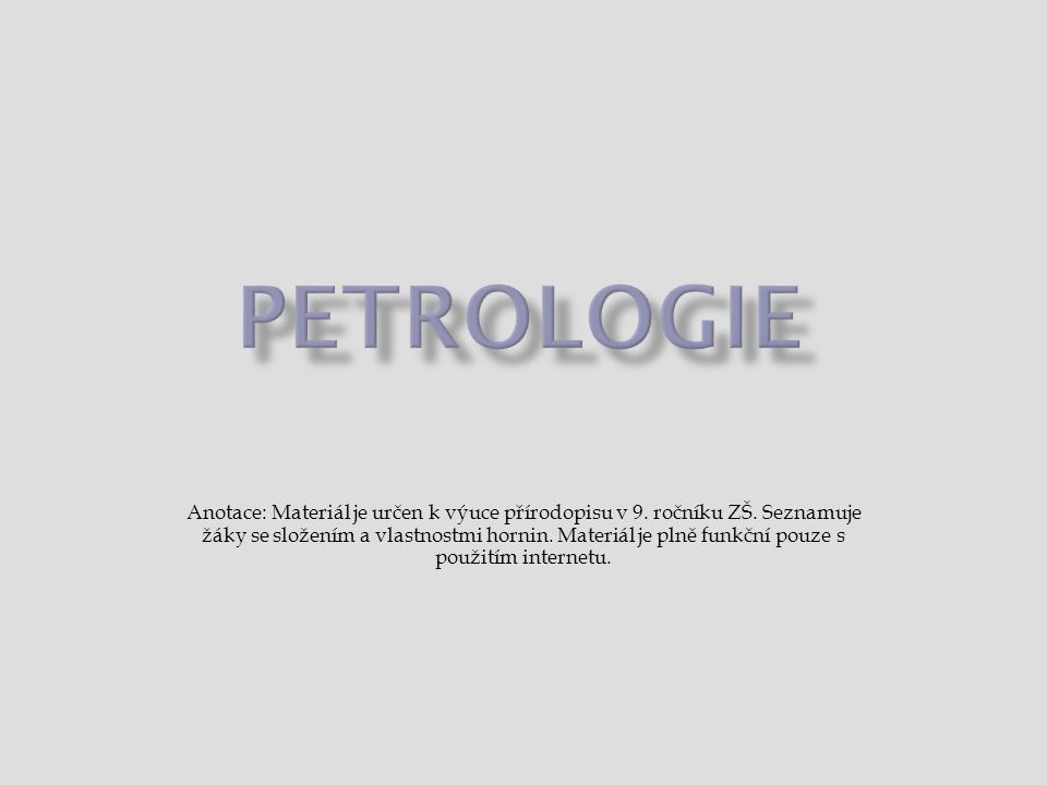  rašelina  tvoří se hromaděním zbytků odumřelých rostlin (zejména mechu rašeliníku) bez přístupu vzduchu → rašeliniště  lázeňská léčbě, v zahradnictví, jako palivo  1, 2 12  uhlovodíky  vznikly za nepřístupu vzduchu z těl drobných živočichů  tekuté – ropa, plynné - zemní plyn, pevné – asfalt ropazemní plyn asfalt  zdroj energie, surovina chemického průmyslu
