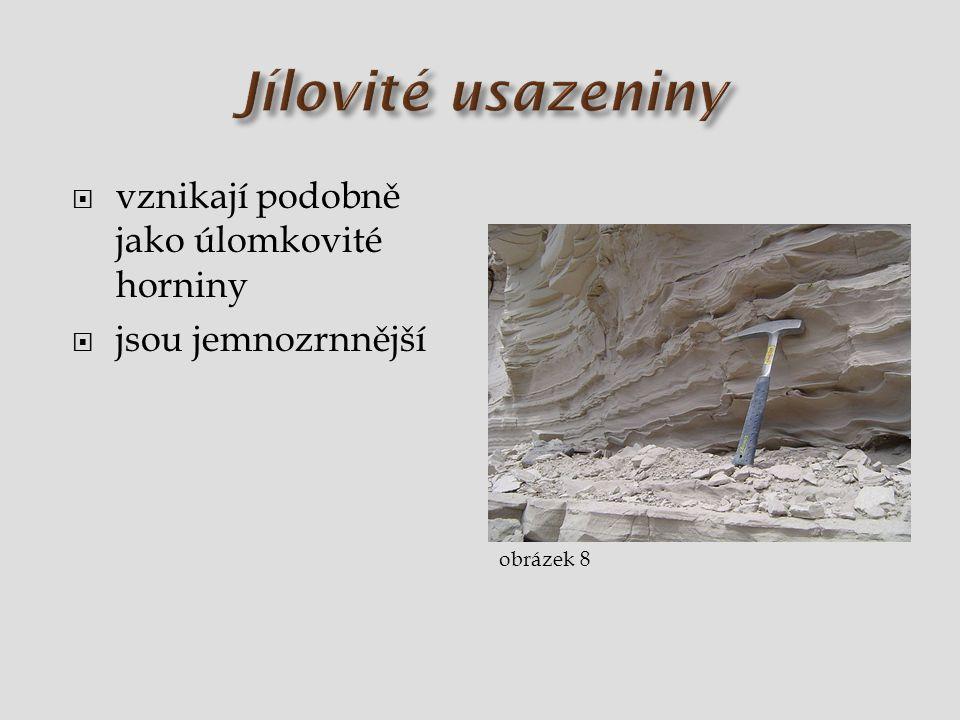  vznikají podobně jako úlomkovité horniny  jsou jemnozrnnější obrázek 8
