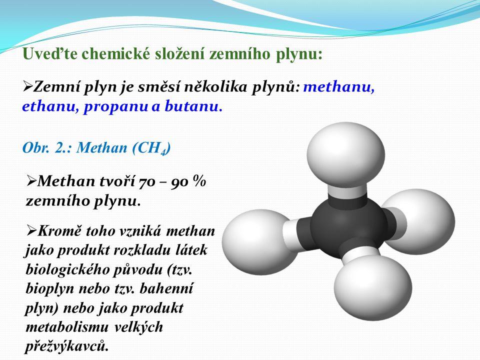 Zemní plyn je přírodní, vysoce hořlavý plyn, který se vyskytuje v dutinách zemské kůry, kde se uvolňoval ze vznikajícího uhlí nebo ropy.