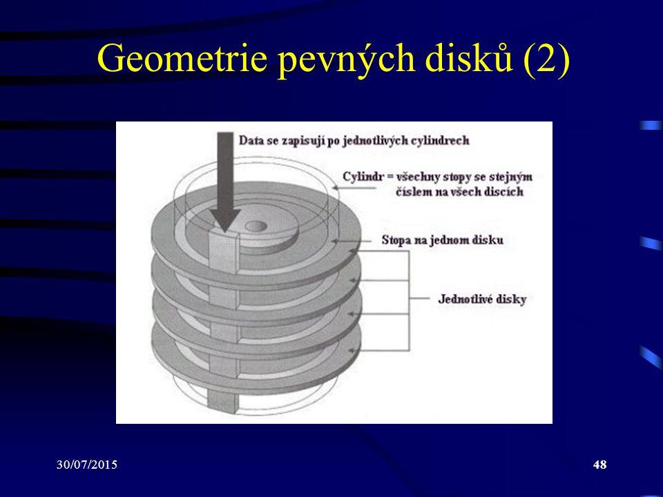 30/07/201548 Geometrie pevných disků (2)