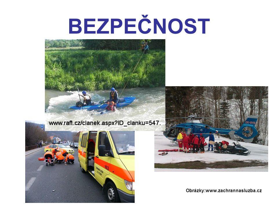 BEZPEČNOST Obrázky:www.zachrannasluzba.cz