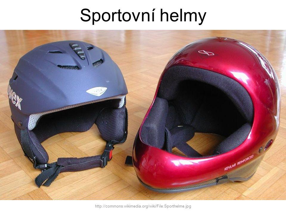Sportovní helmy http://commons.wikimedia.org/wiki/File:Sporthelme.jpg