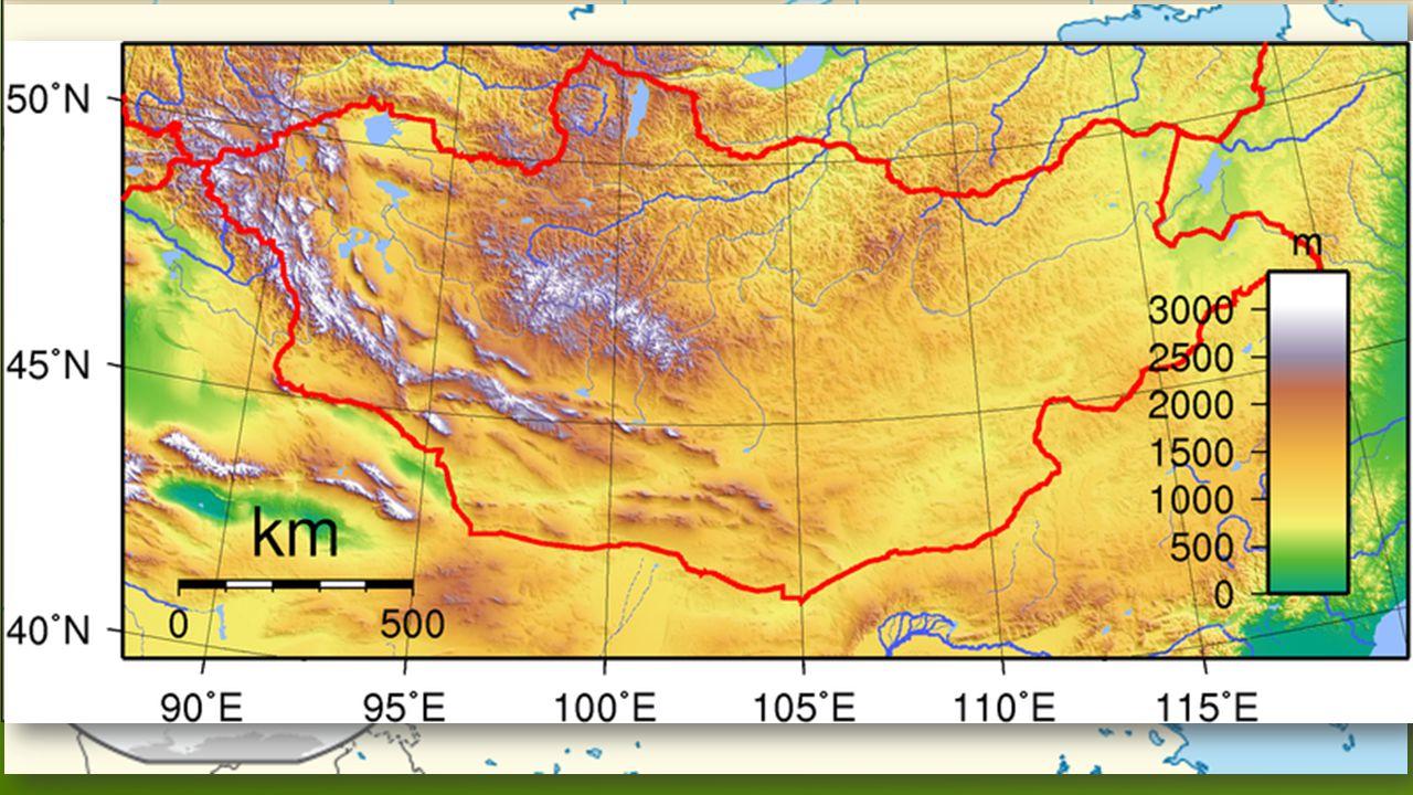 OBECNÉ INFORMACE  Originální název: Mongol Uls  Hlavní město: Ulánbátar  Rozloha: 1 565 000 km 2  3 041 100 obyvatel  21 provincií a hlavní město  Republika  Vznik: 1921  Další města: Darhan (80 tisíc obyvatel)  Eerdenet (50 tisíc obyvatel)  Prezident: Tsakhia Elbegdorj