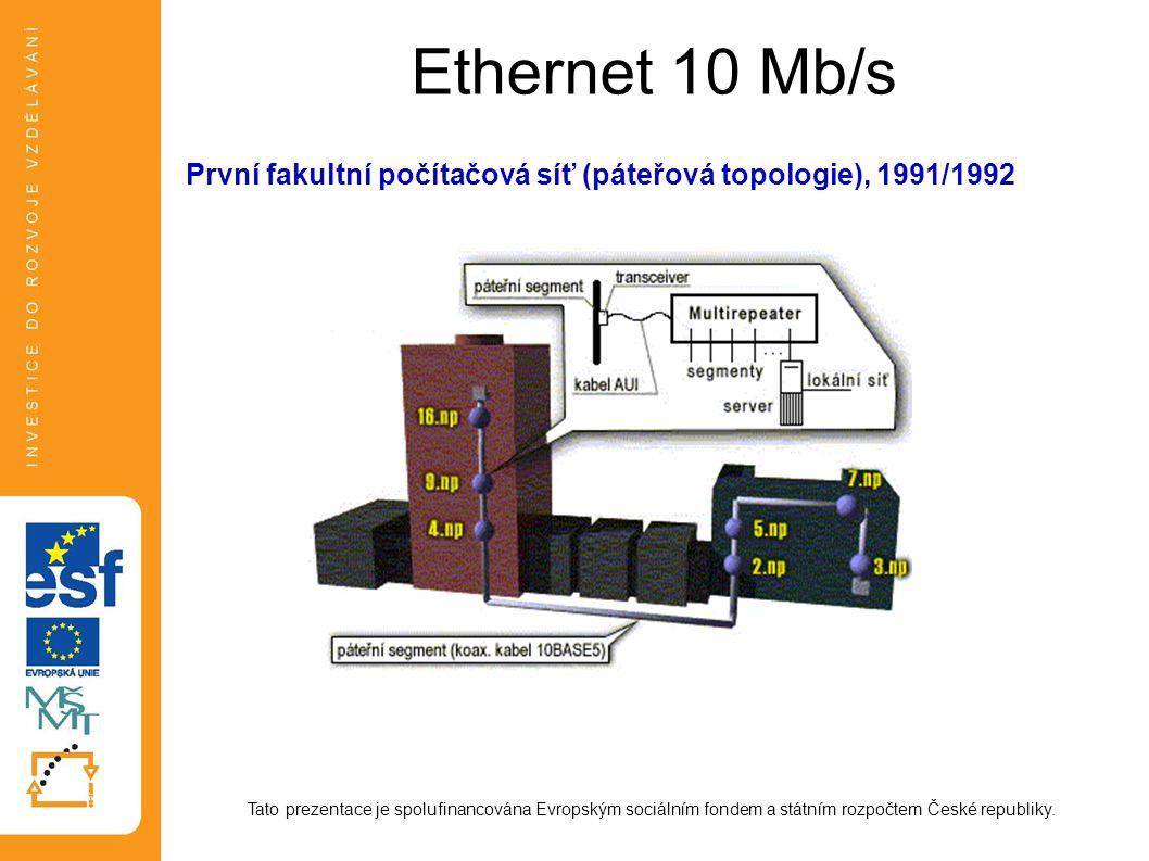 Cyklická redundantní kontrola Vysílač generuje ke k-bitovému rámci (vysílaná data) n-bitovou posloupnost FCS (Frame Control Sequence) tak, aby těchto spojených k+n bitů bylo dělitelné předem určeným číslem.