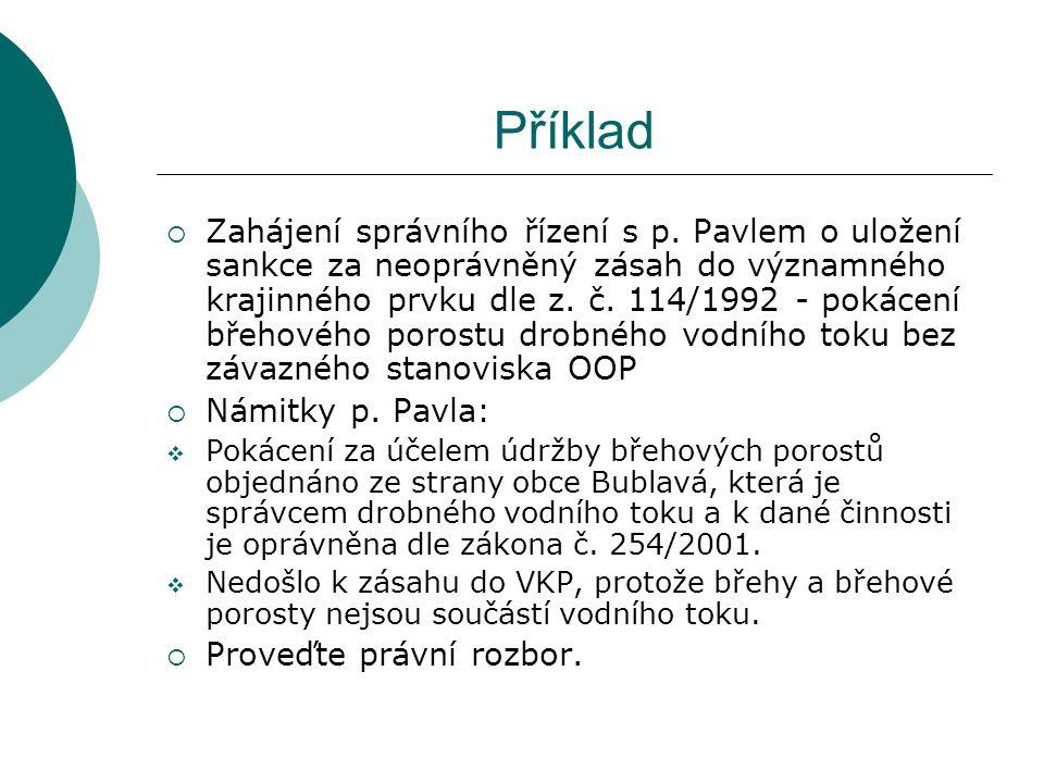 Příklad  Zahájení správního řízení s p.