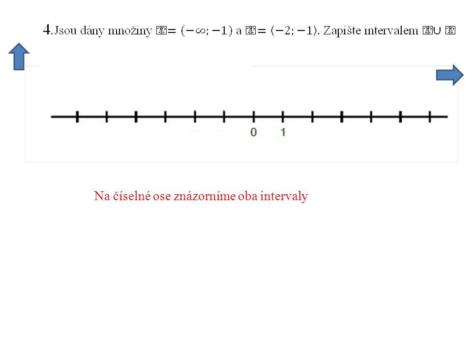 Na číselné ose znázorníme oba intervaly
