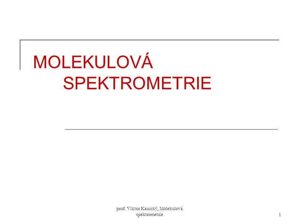 prof. Viktor Kanický, Molekulová spektrometrie 1 MOLEKULOVÁ SPEKTROMETRIE