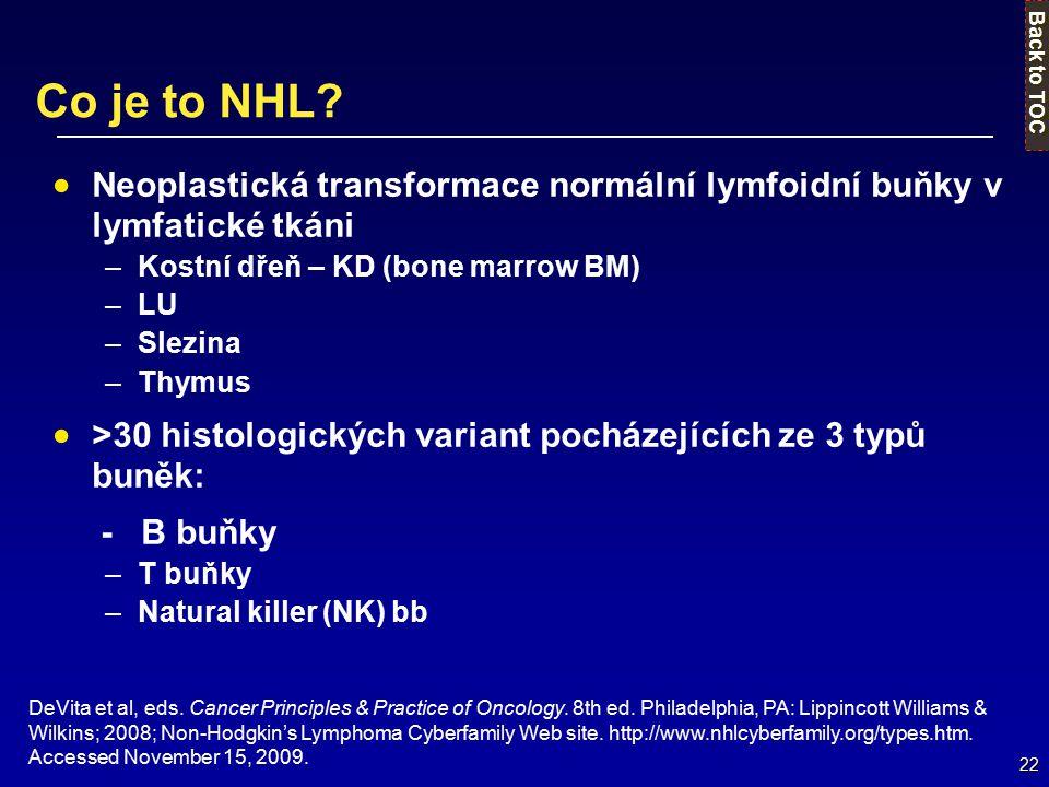 22 DeVita et al, eds. Cancer Principles & Practice of Oncology. 8th ed. Philadelphia, PA: Lippincott Williams & Wilkins; 2008; Non-Hodgkin's Lymphoma