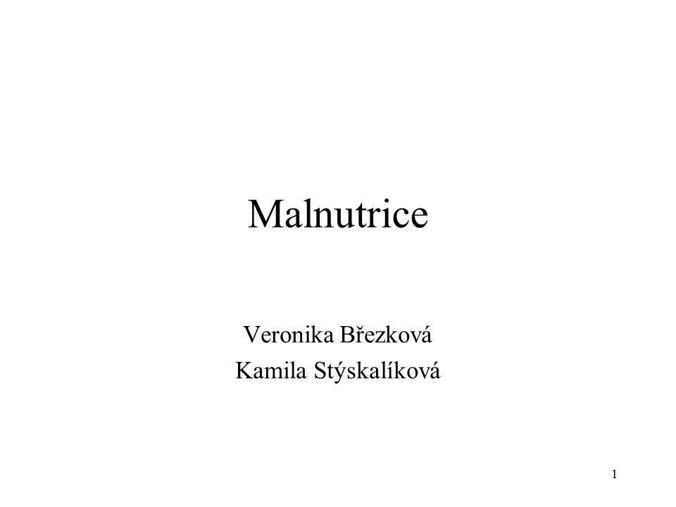 Malnutrice Veronika Březková Kamila Stýskalíková 1