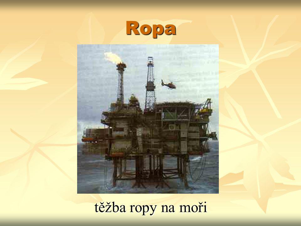 Ropa těžba ropy na moři