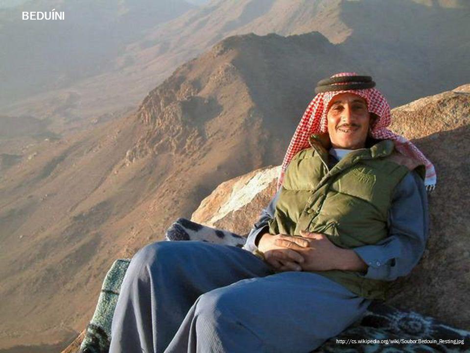 BEDUÍNI http://cs.wikipedia.org/wiki/Soubor:Bedouin_Resting.jpg