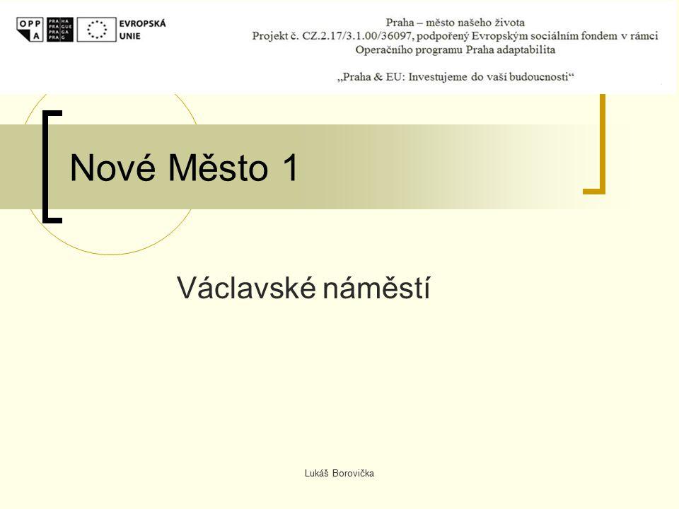 Lukáš Borovička Nové Město 1 Václavské náměstí