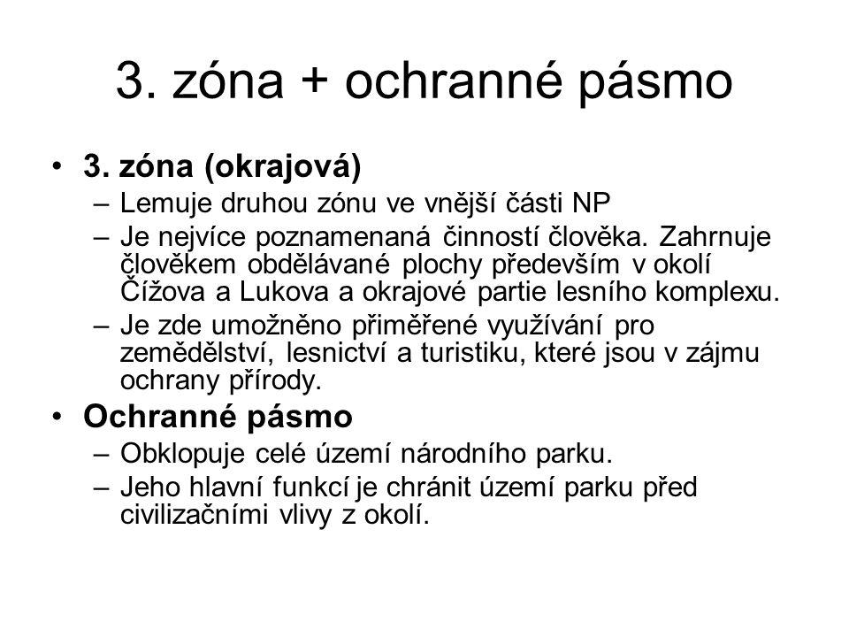 3.zóna + ochranné pásmo 3.