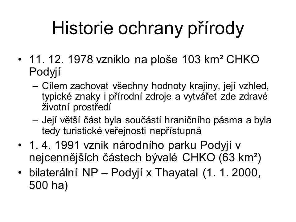 Historie ochrany přírody 11.12.