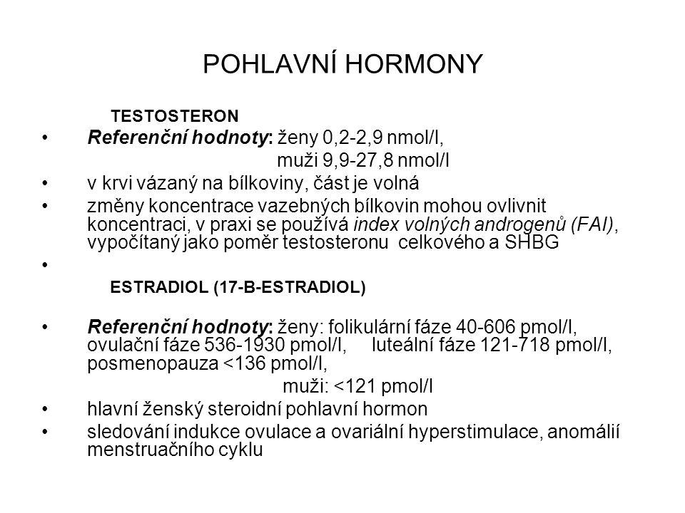 Stanovení hormonů používají se imunochemické metody založeny na specifické reakci antigen – protilátka Dělení: - dle uspořádání reakce – kompetitivní, nekompetivní (sendvičové) - dle prostředí homogenní imunoanalýza (stanovení a detekce přímo v reakční směsi – fluoroimunoanalýza, př.