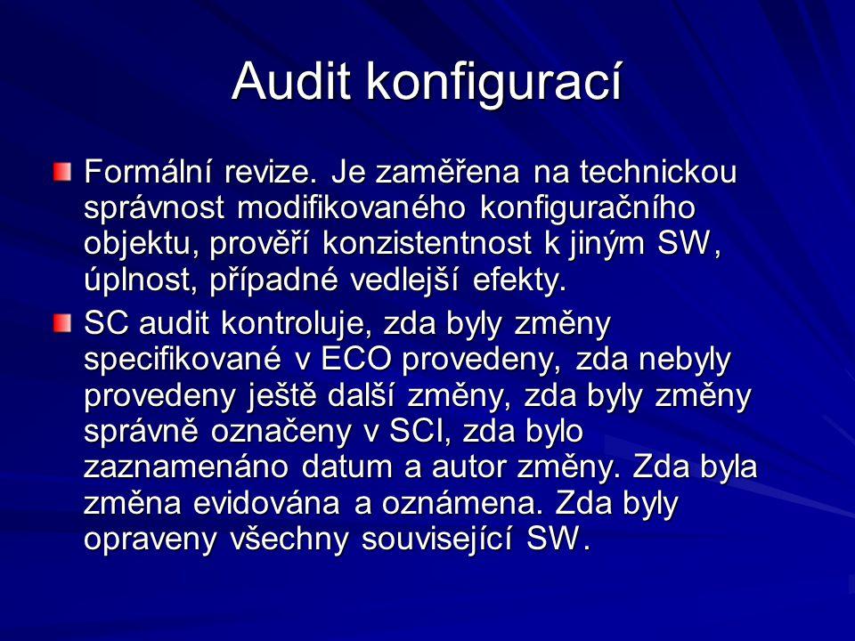 Audit konfigurací Formální revize.