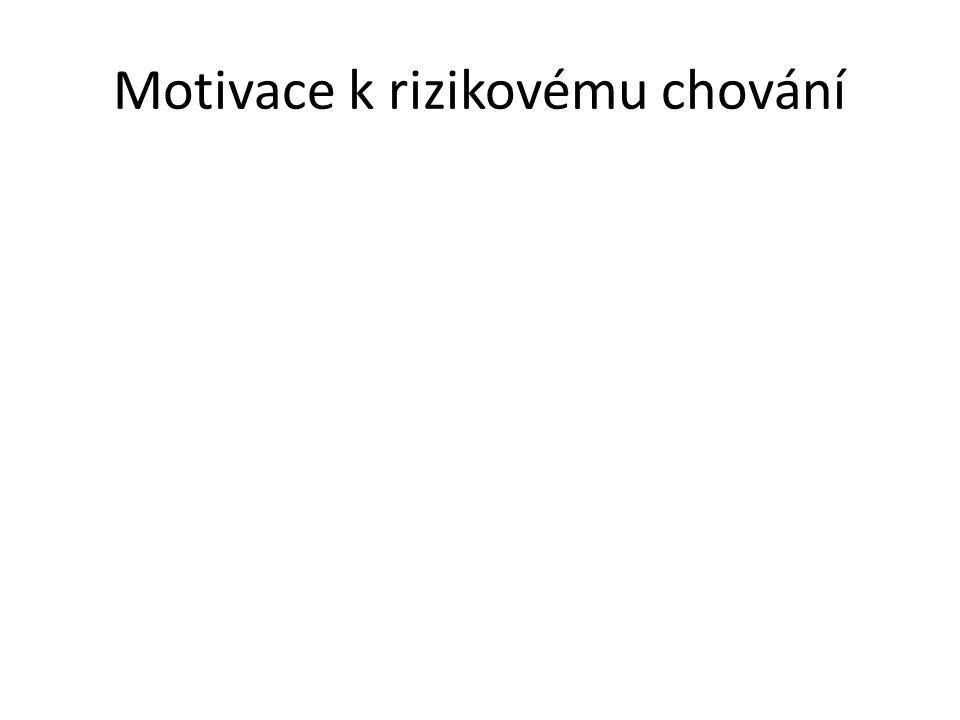 Motivace k rizikovému chování
