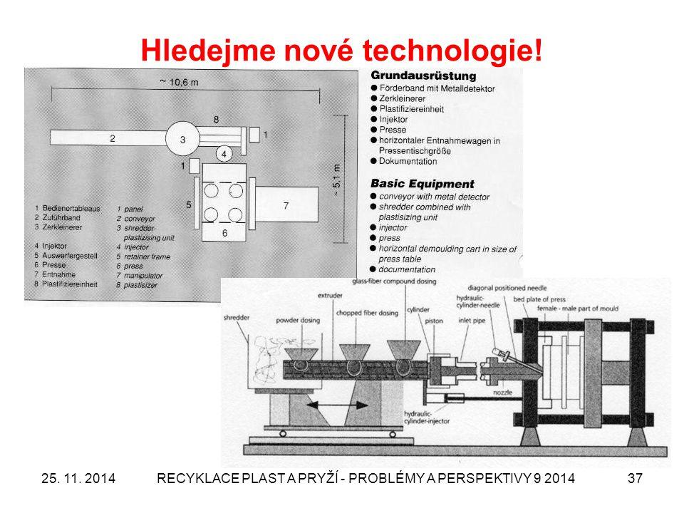 Hledejme nové technologie! 25. 11. 2014RECYKLACE PLAST A PRYŽÍ - PROBLÉMY A PERSPEKTIVY 9 201437