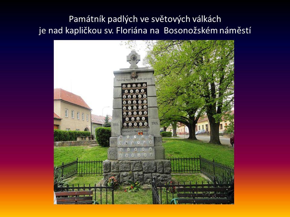 Starosta po závěrečném slovu požádal účastníky, aby se přemístili k dalšímu pomníku padlých nad kapličkou