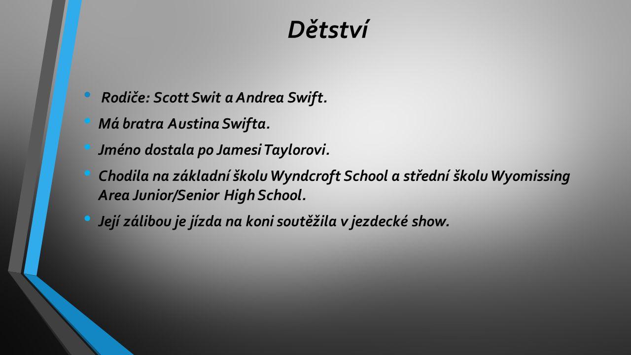 Dětství Rodiče: Scott Swit a Andrea Swift. Má bratra Austina Swifta. Jméno dostala po Jamesi Taylorovi. Chodila na základní školu Wyndcroft School a s