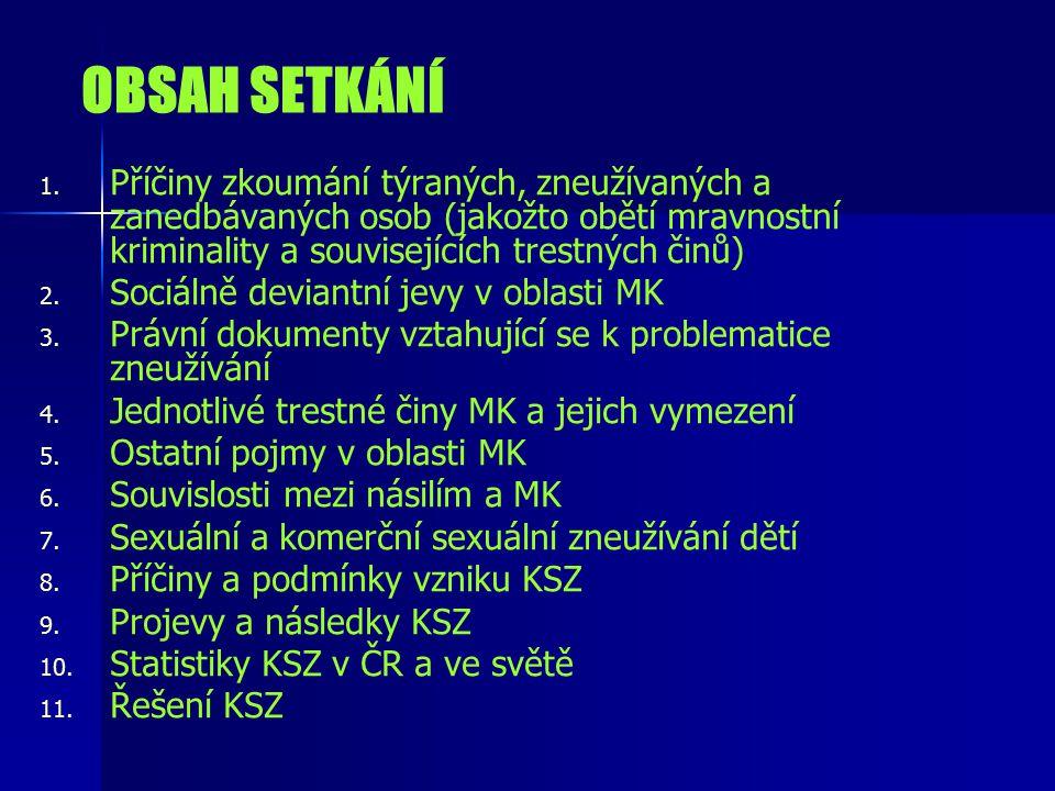 OBSAH SETKÁNÍ 1.1.