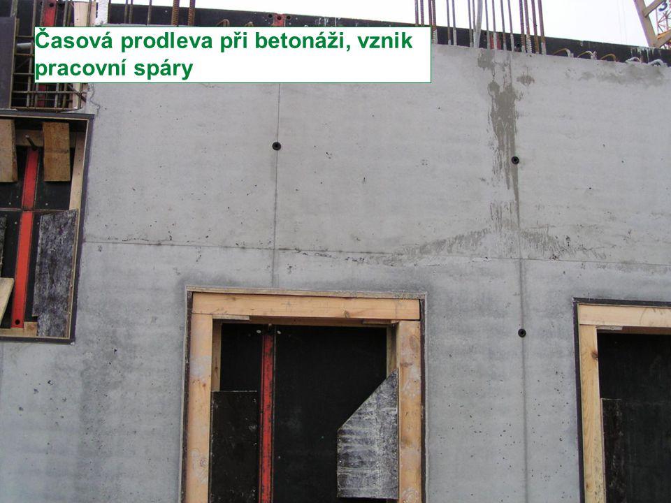 Stránka 25 Moderní trendy v betonu III. - Provádění betonových konstrukcí Časová prodleva při betonáži, vznik pracovní spáry