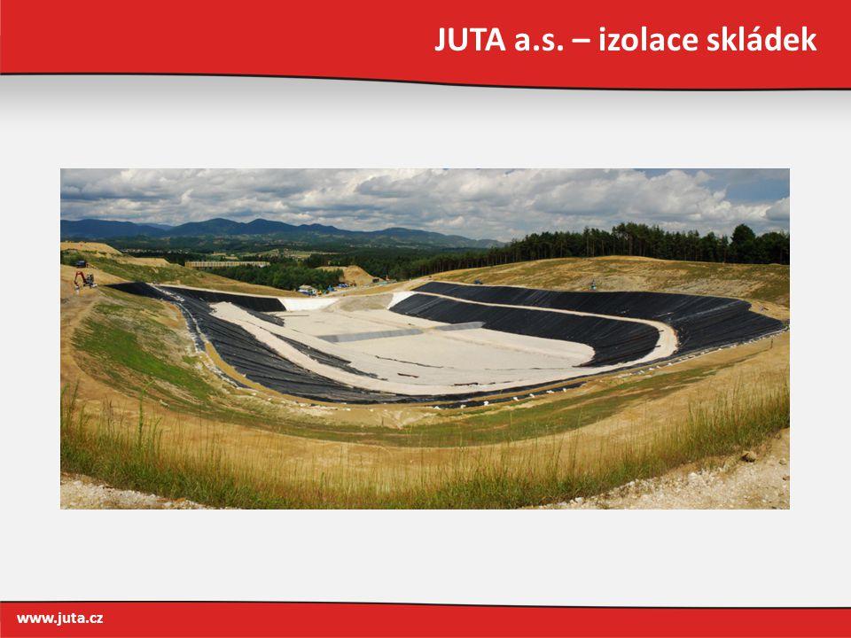 JUTA a.s. – izolace skládek www.juta.cz