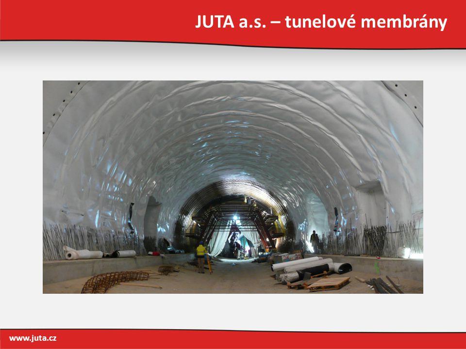 JUTA a.s. – tunelové membrány www.juta.cz