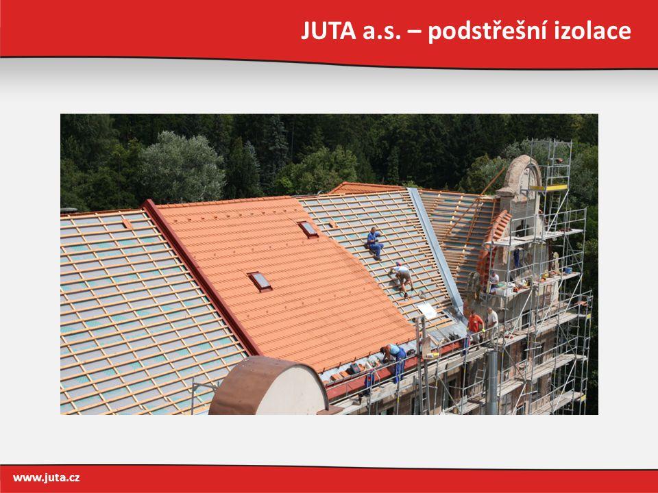 JUTA a.s. – podstřešní izolace www.juta.cz