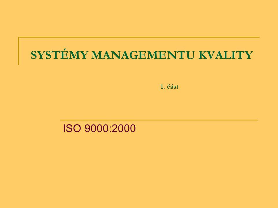 """DEFINICE SYSTÉMŮ MANAGEMENTU KVALITY: SMNGQ - organizační struktura, postupy, procesy a zdroje potřebné pro uplatnění managementu kvality Deming: ''Management's job is to optimize the whole system'' Feigenbaum: + """"Quality is everybody´s job ."""