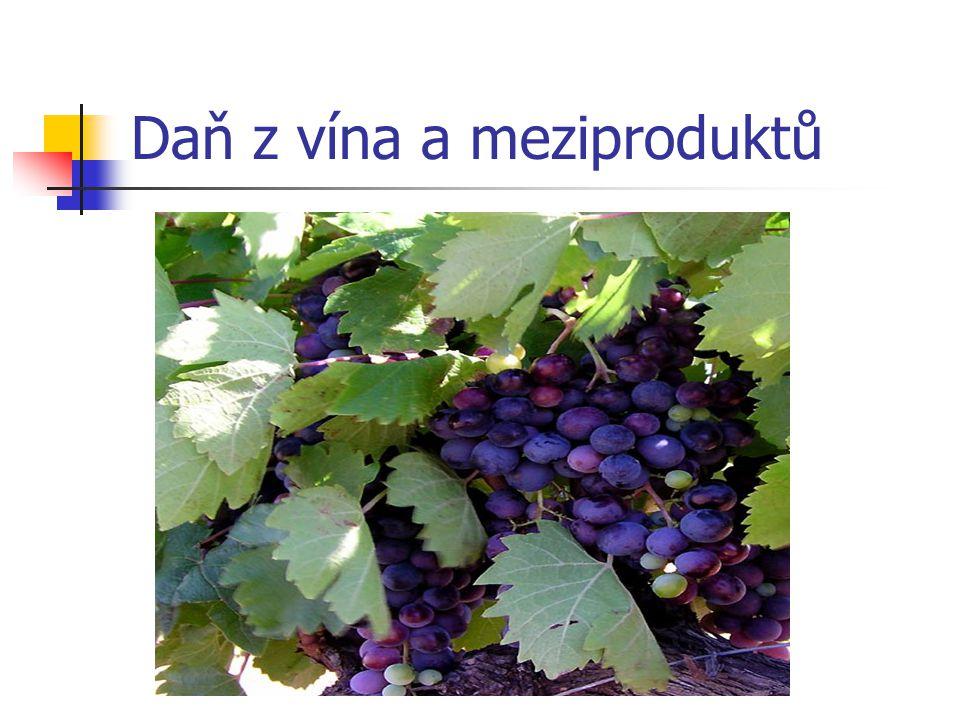 Daň z vína a meziproduktů