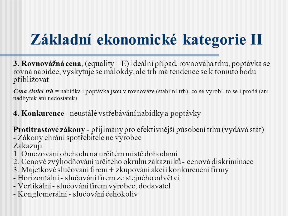 Základní ekonomické kategorie II 3.