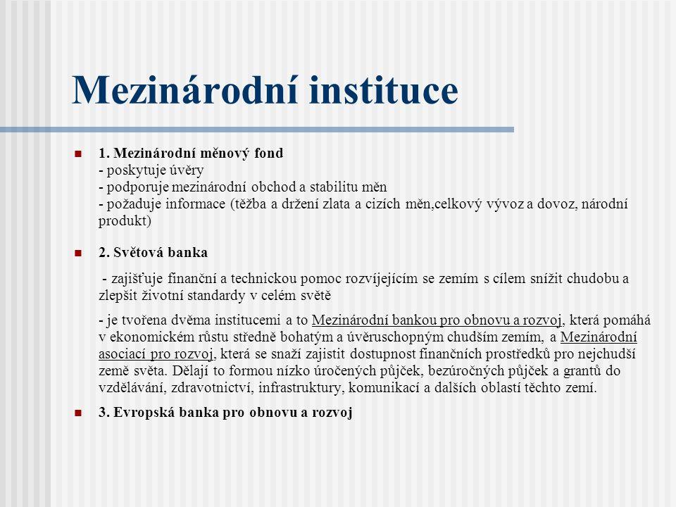 Mezinárodní instituce 1.
