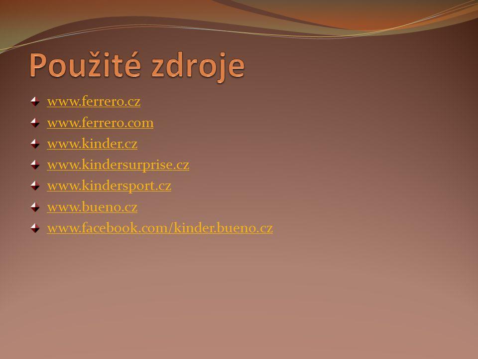 www.ferrero.cz www.ferrero.com www.kinder.cz www.kindersurprise.cz www.kindersport.cz www.bueno.cz www.facebook.com/kinder.bueno.cz