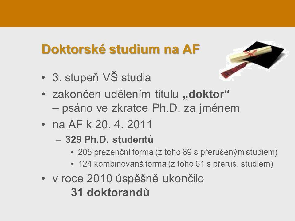 Doktorské studium na AF 3.