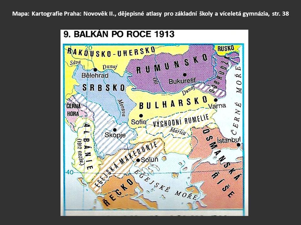 Mapa: Kartografie Praha: Novověk II., dějepisné atlasy pro základní školy a víceletá gymnázia, str. 38