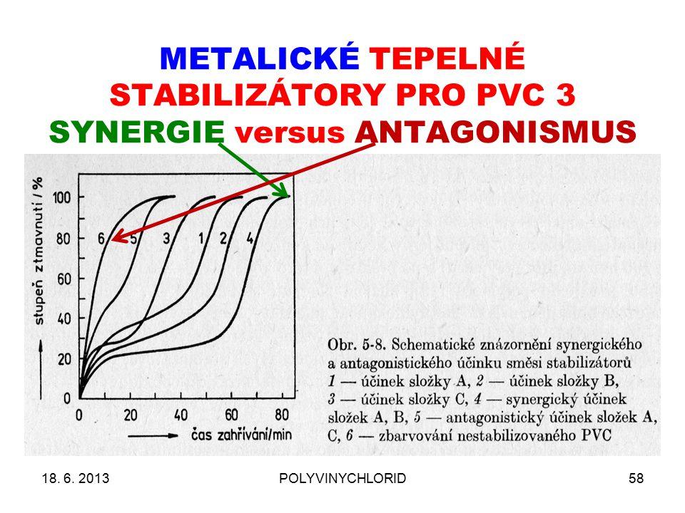 METALICKÉ TEPELNÉ STABILIZÁTORY PRO PVC 3 SYNERGIE versus ANTAGONISMUS 18. 6. 2013POLYVINYCHLORID58