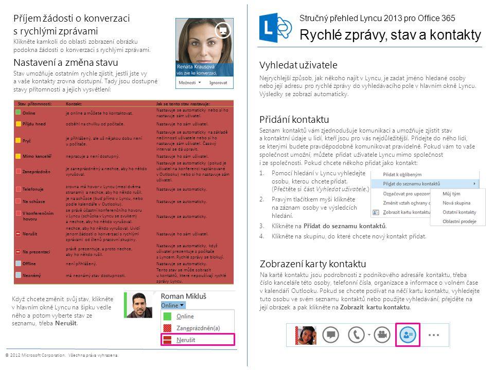 © 2012 Microsoft Corporation. Všechna práva vyhrazena.