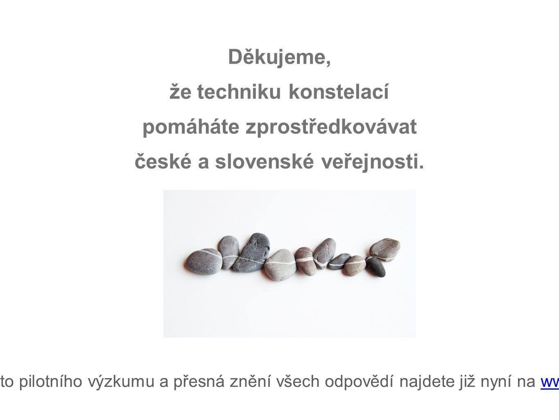 Děkujeme, že techniku konstelací pomáháte zprostředkovávat české a slovenské veřejnosti.
