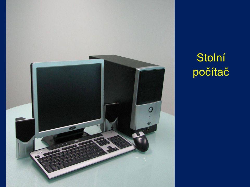 PŘENOSNÉ POČÍTAČE NotebookyNotebooky –lehké –mobilní –plochá obrazovka –napájen z baterií