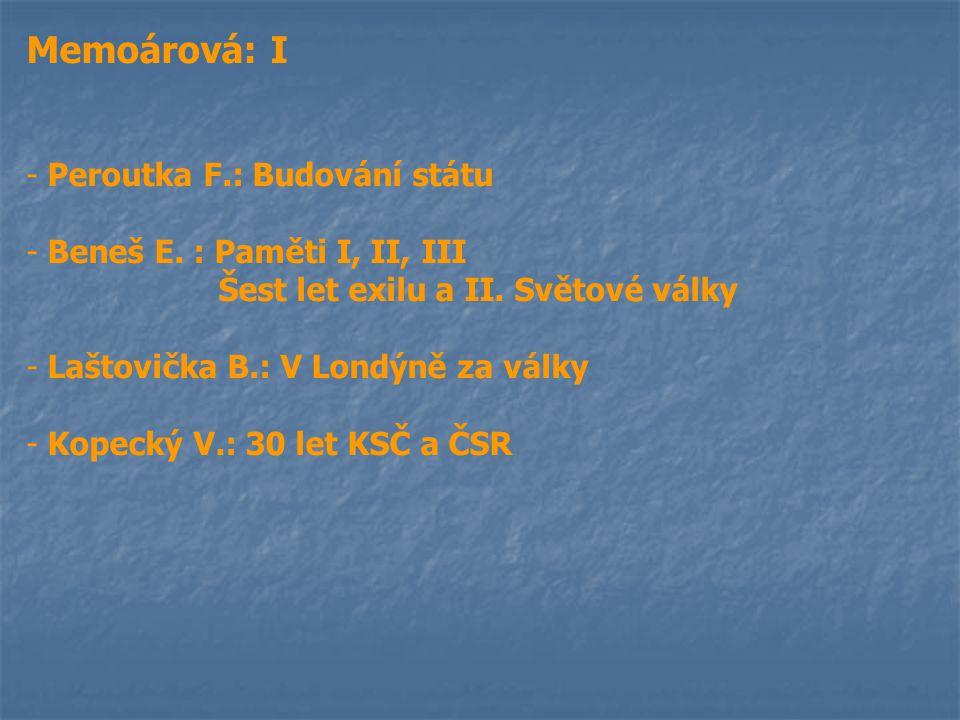 14.listopadu prezident : T.G. Masaryk předseda vlády : K.