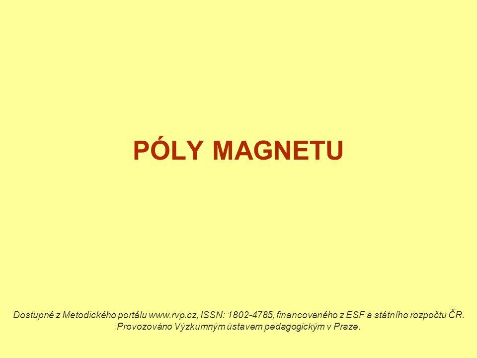PÓLY MAGNETU Dostupné z Metodického portálu www.rvp.cz, ISSN: 1802-4785, financovaného z ESF a státního rozpočtu ČR. Provozováno Výzkumným ústavem ped