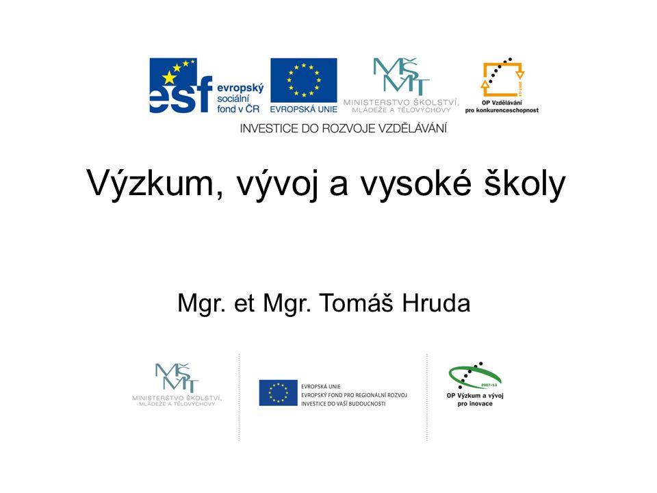Výzkum, vývoj a vysoké školy Mgr. et Mgr. Tomáš Hruda