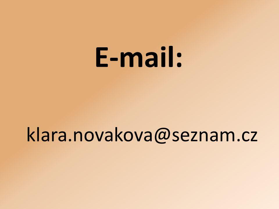 E-mail: klara.novakova@seznam.cz