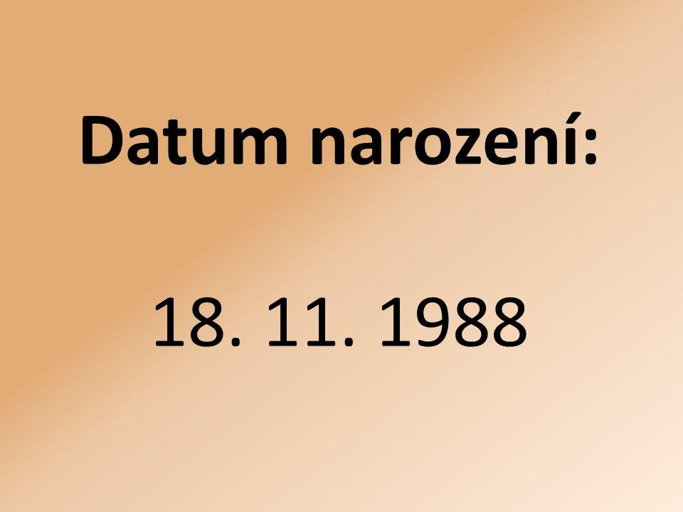 Datum narození: 18. 11. 1988