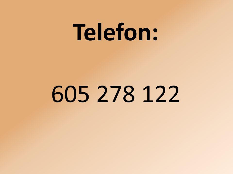 Telefon: 605 278 122